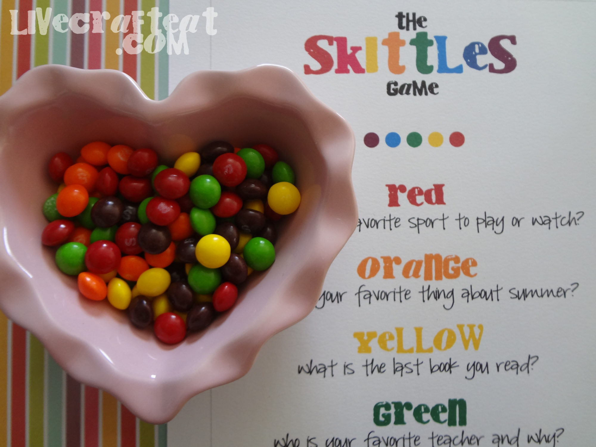 Skittles Icebreaker & Get To Know You Game | Live Craft Eat