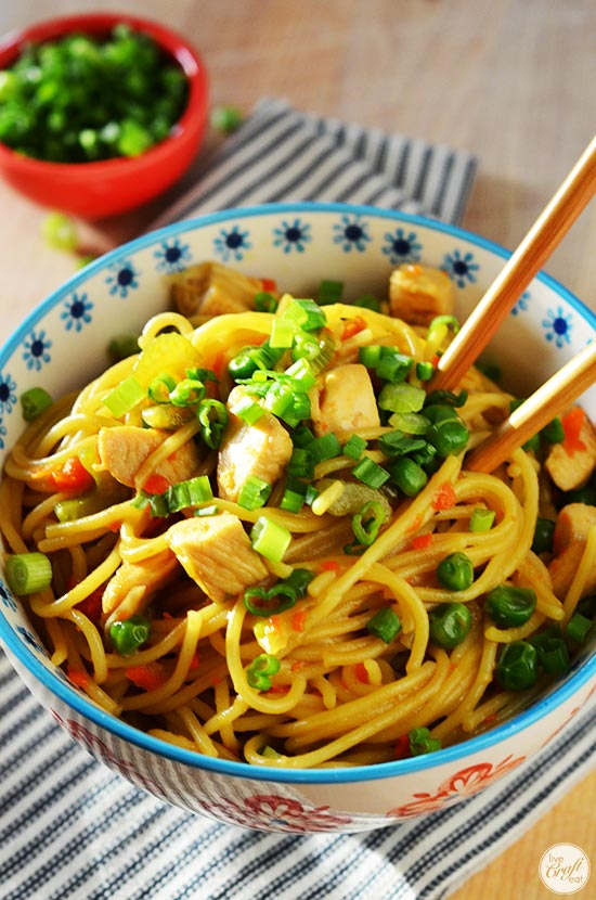 easy homemade chicken lo mein recipe - skip the restaurant and make it at home instead!
