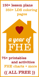 a year of fhe - family home evening online resource