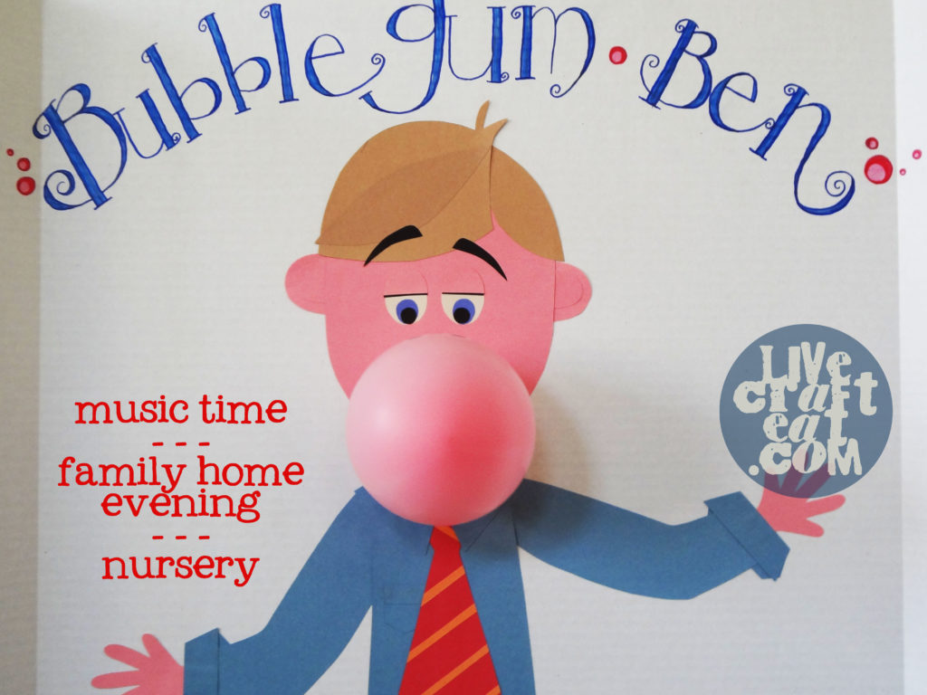 bubblegum ben with blown up balloon