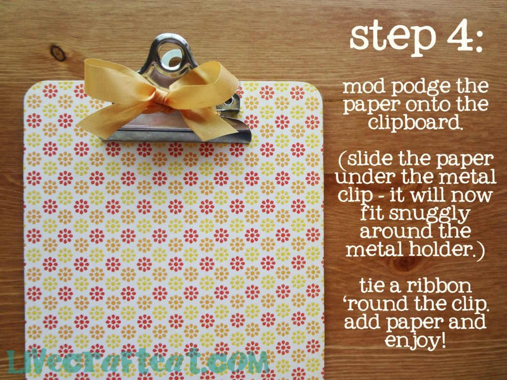 use paper to dress up a clipboard