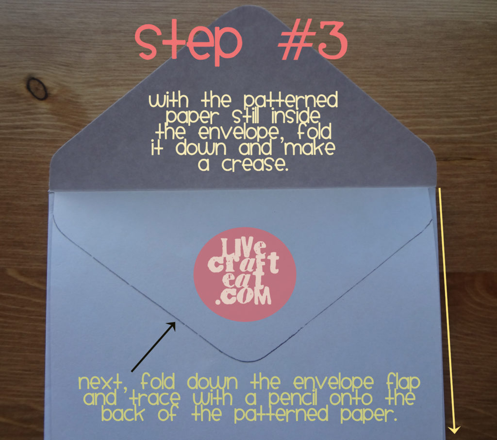 how to line an envelope - step 3