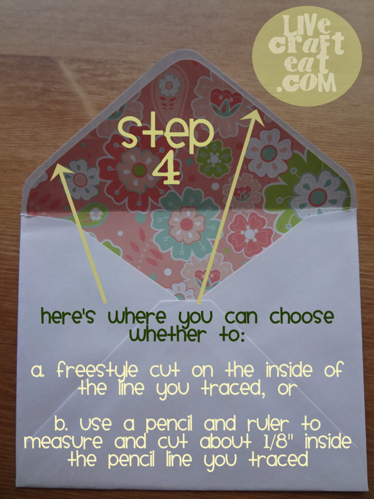 how to line an envelope - step 4