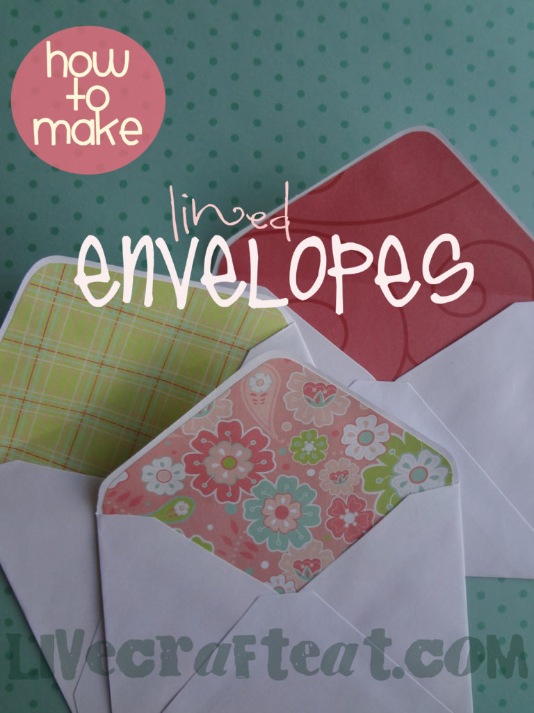 lining an envelope tutorial