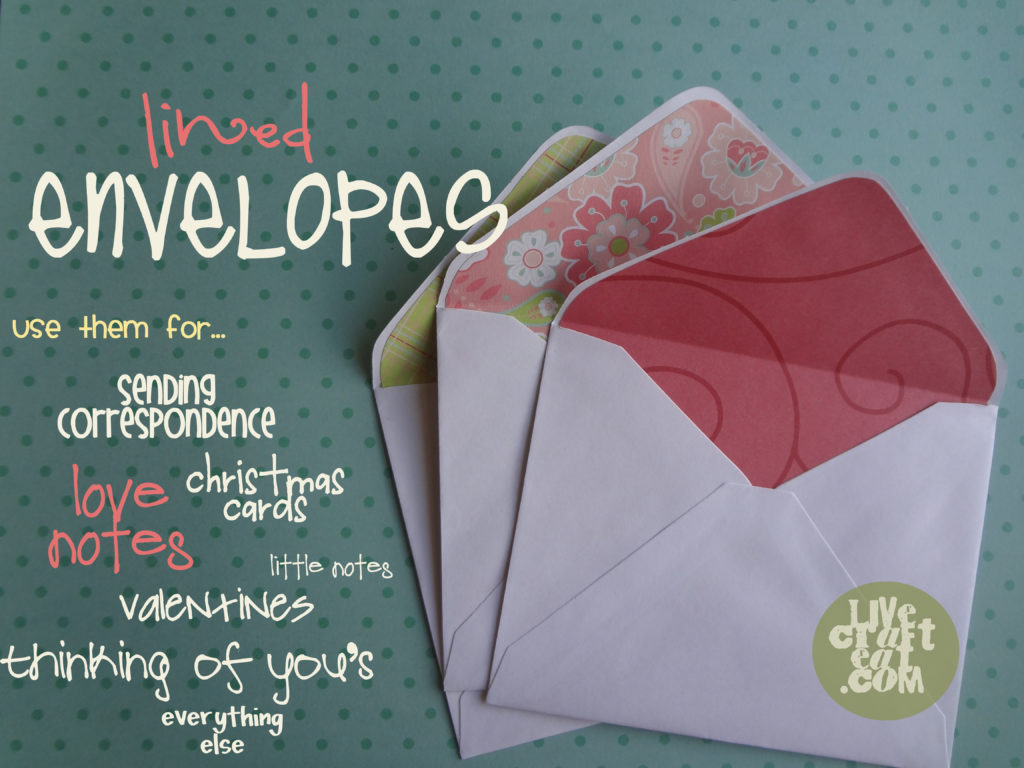 occasions for lining an envelope