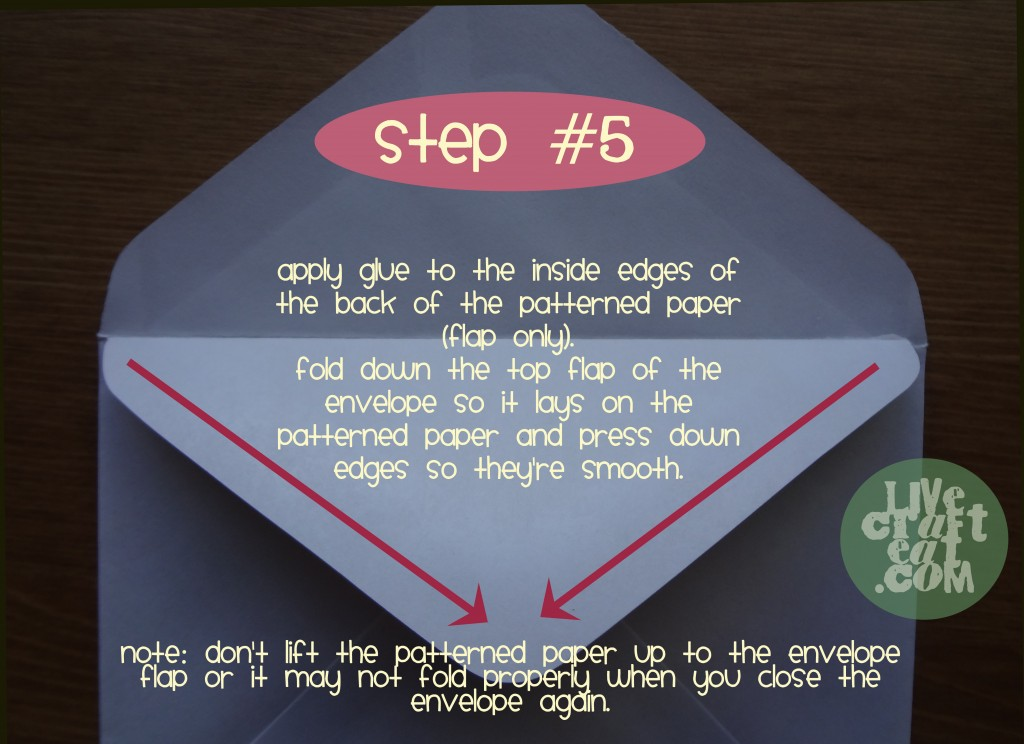 make a lined envelope - step 5