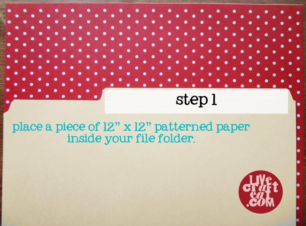 lining a file folder step 1
