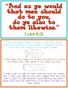 luke 6:31 printable and paper people game instructions