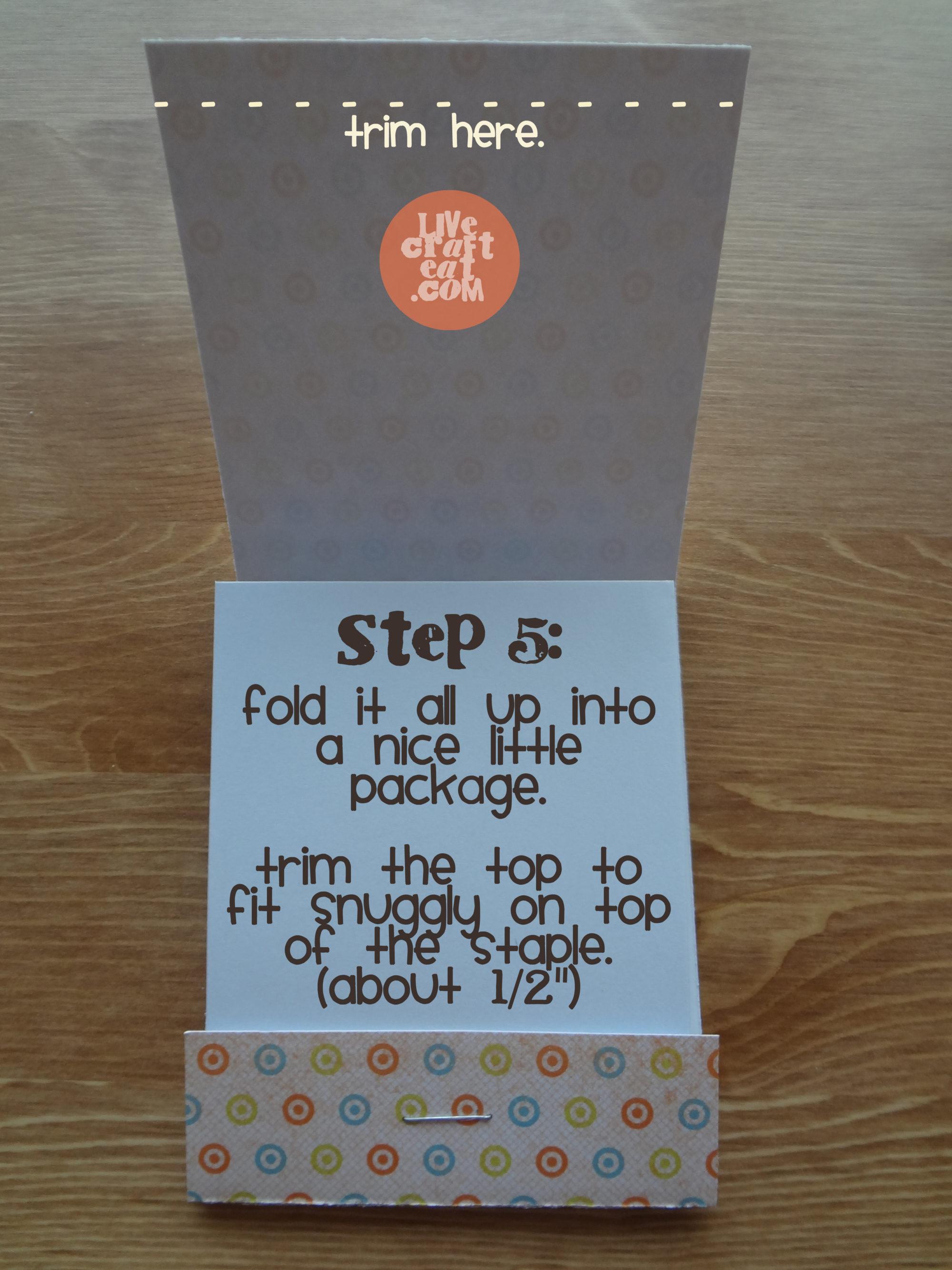 How To Make A Matchbook Notebook   Live Craft Eat