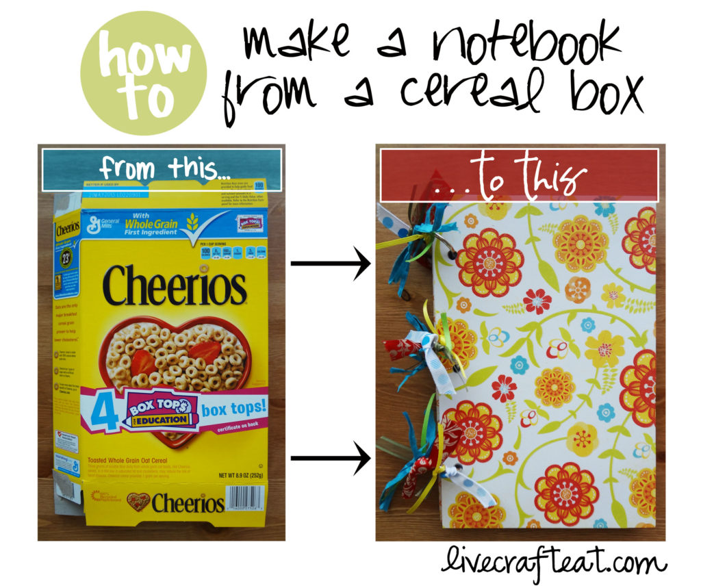 Cereal box crafts turn a cereal box into a notebook live craft eat cereal box to notebook ccuart
