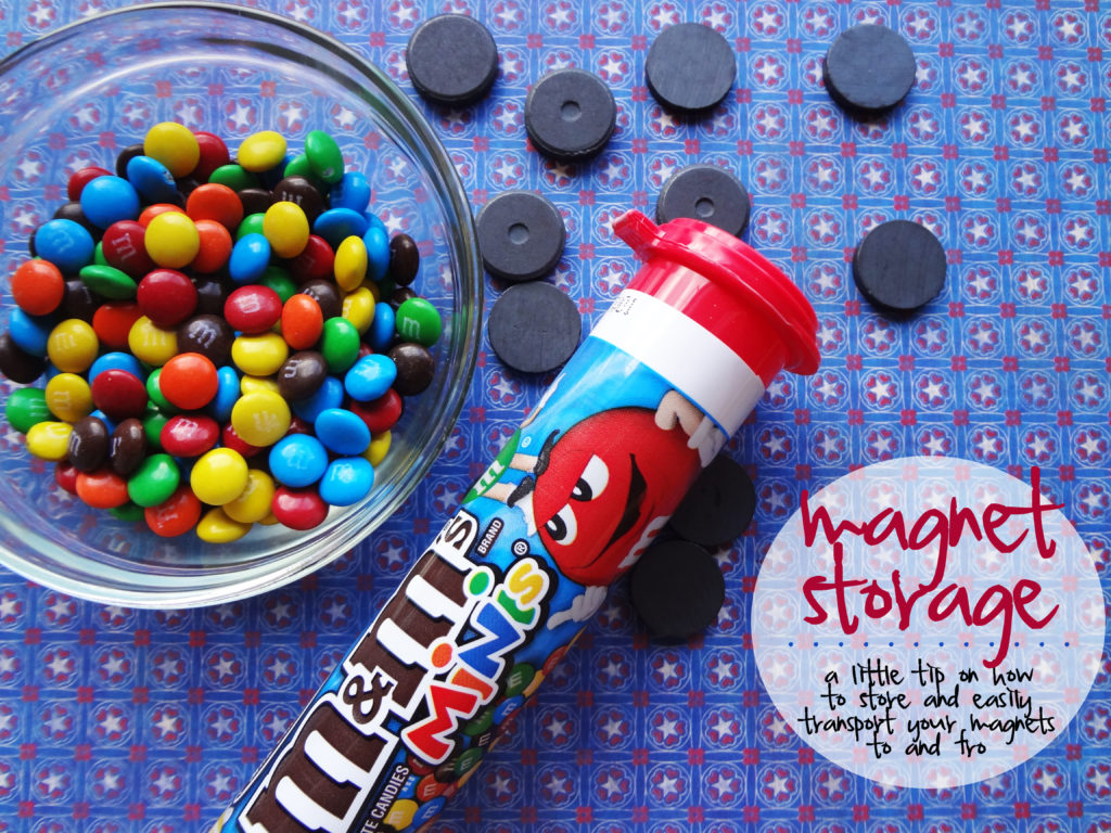 magnets and m&ms storage