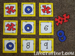 x's and o's for tic tac toe game