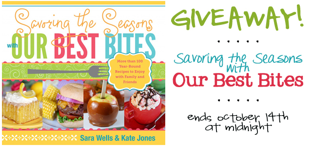 our best bites cookbook giveaway