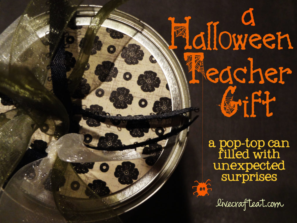 halloween craft - pop-top can gifts