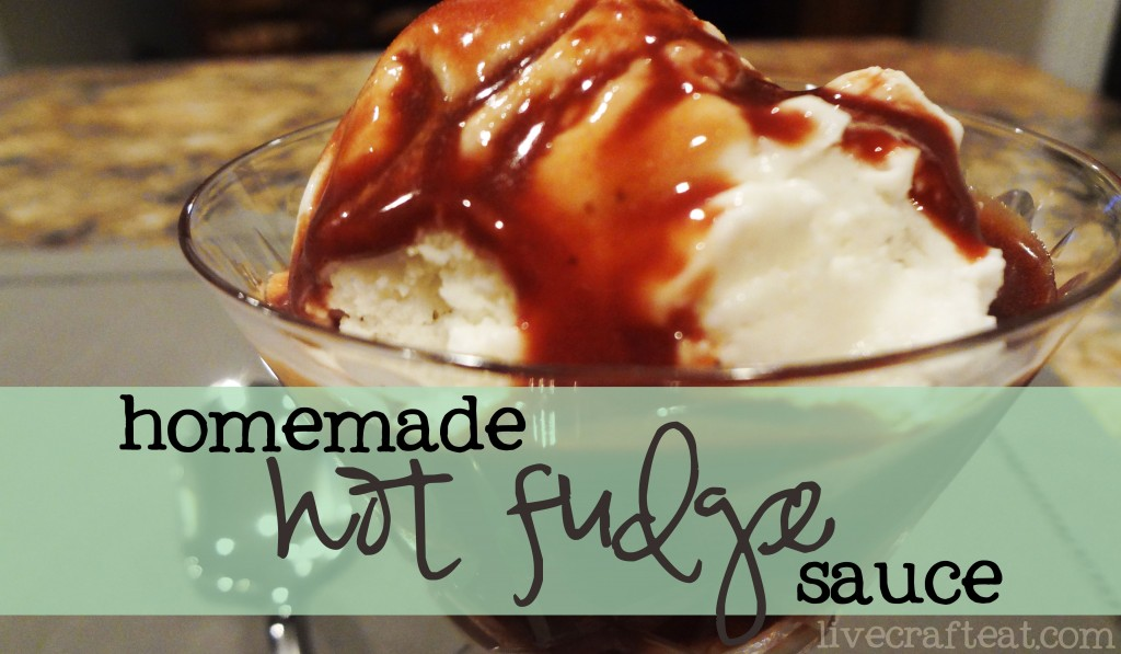 homemade hot fudge sauce on ice cream
