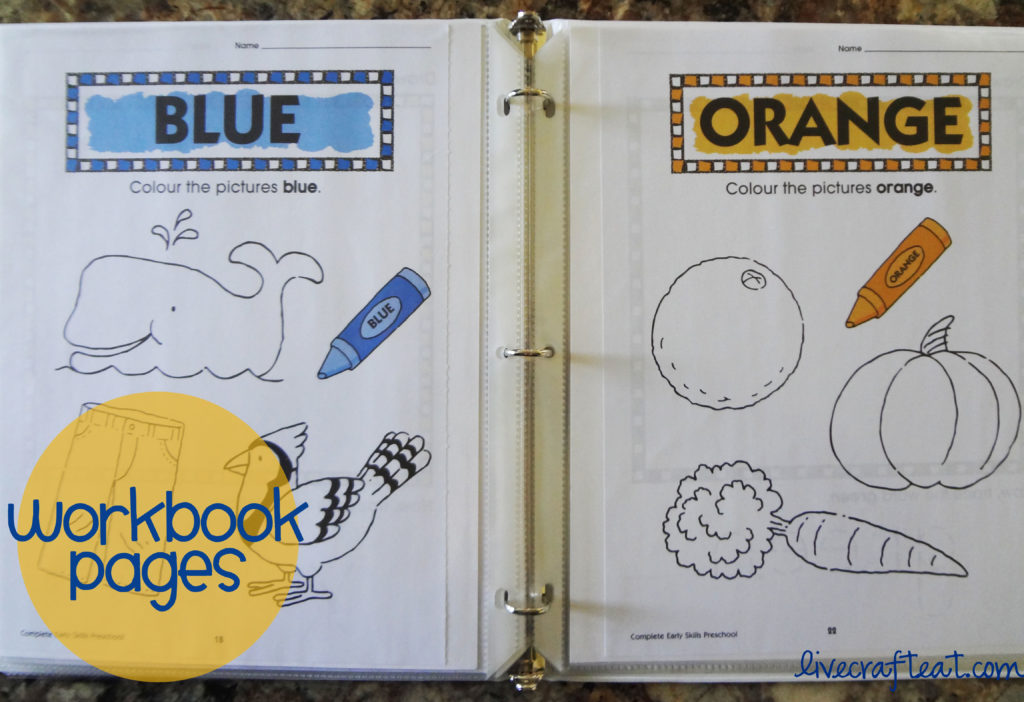 dry-erase workbook pages for kids