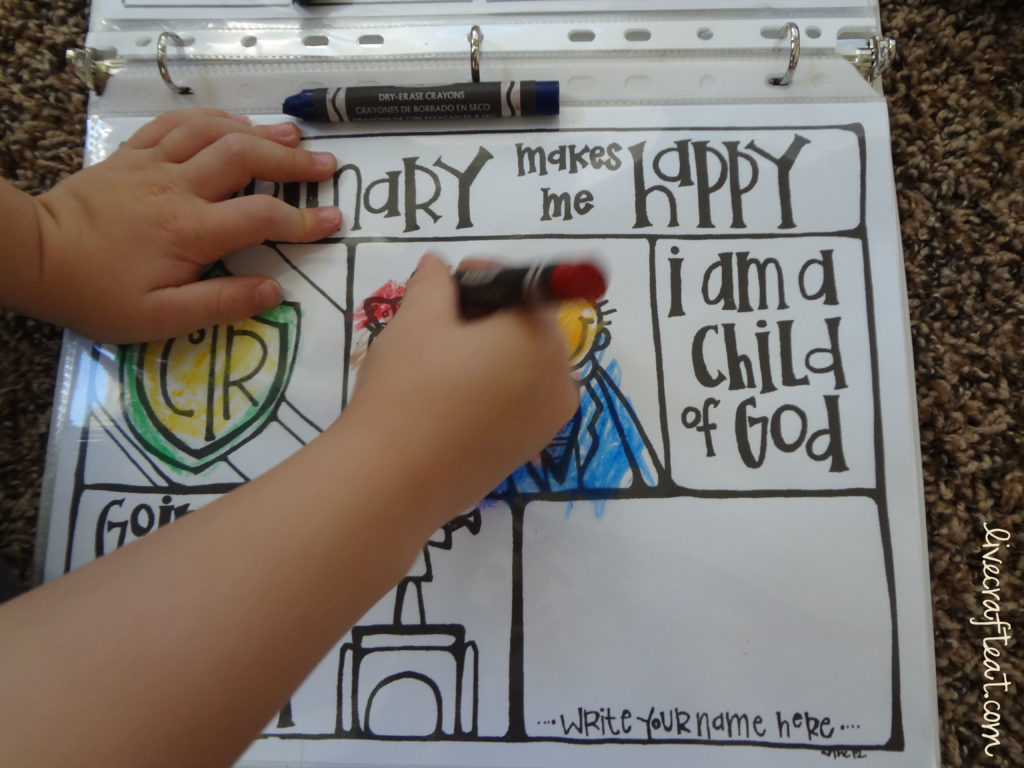 DIY Dry Erase Activity Book For Kids