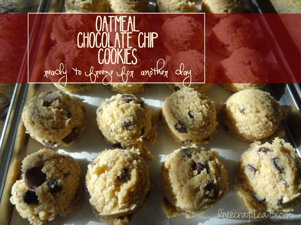oatmeal chocolate chip cookie recipe - freezer-safe cookies