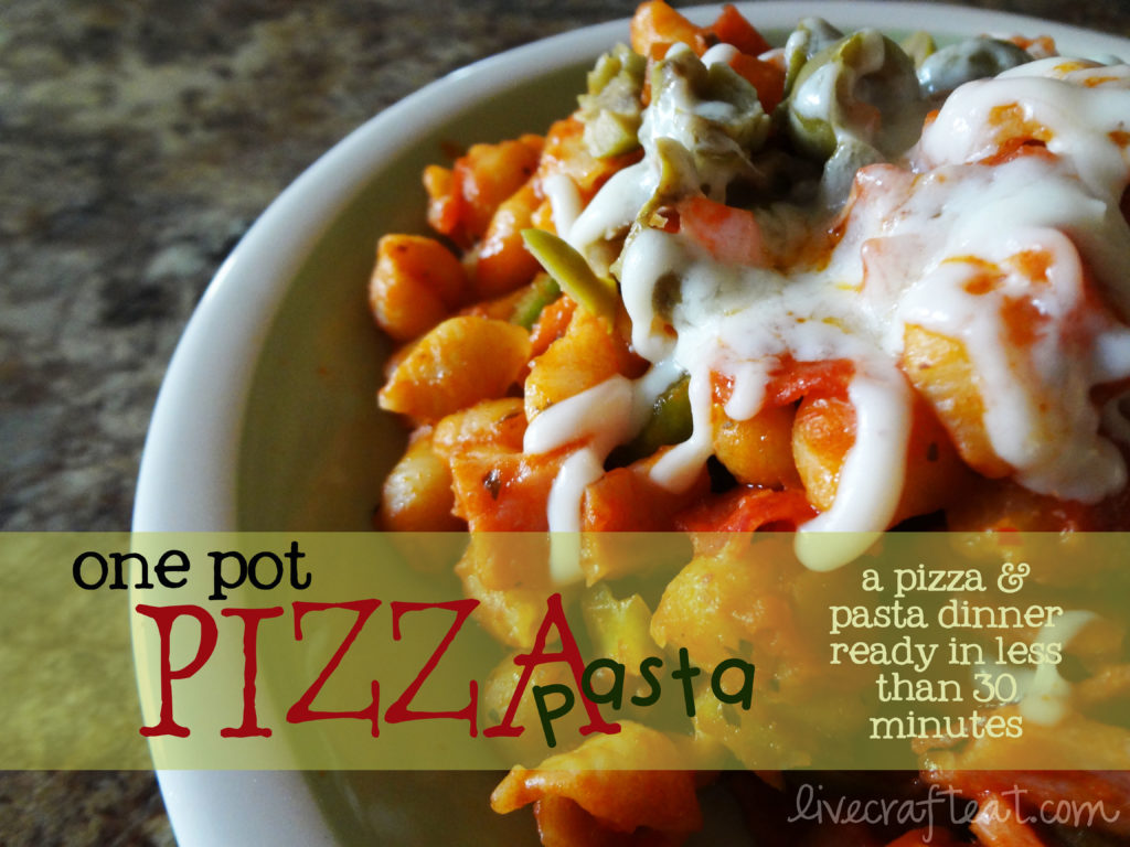 pizza and pasta dinner