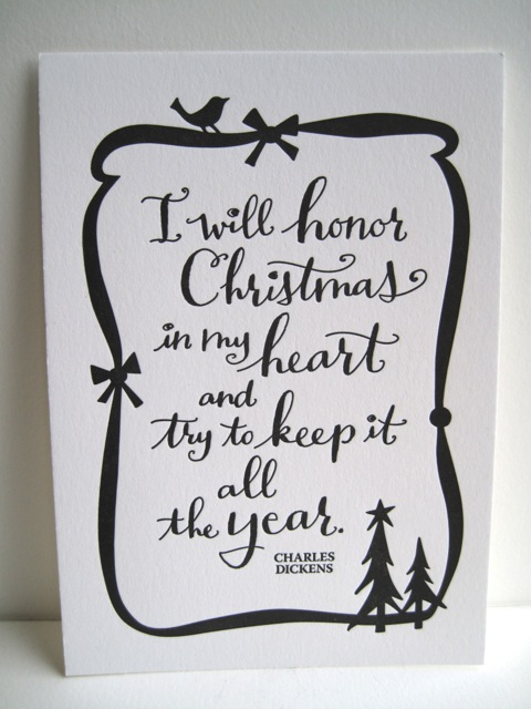 christmas letterpress prints