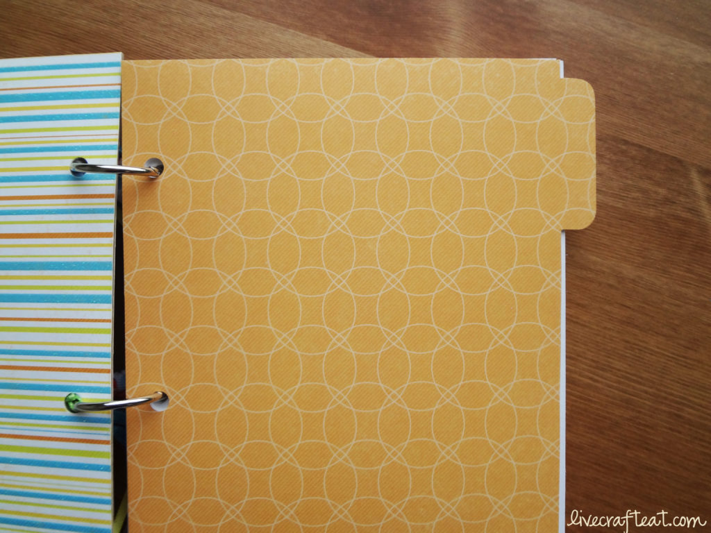 colored cardstock tab dividers