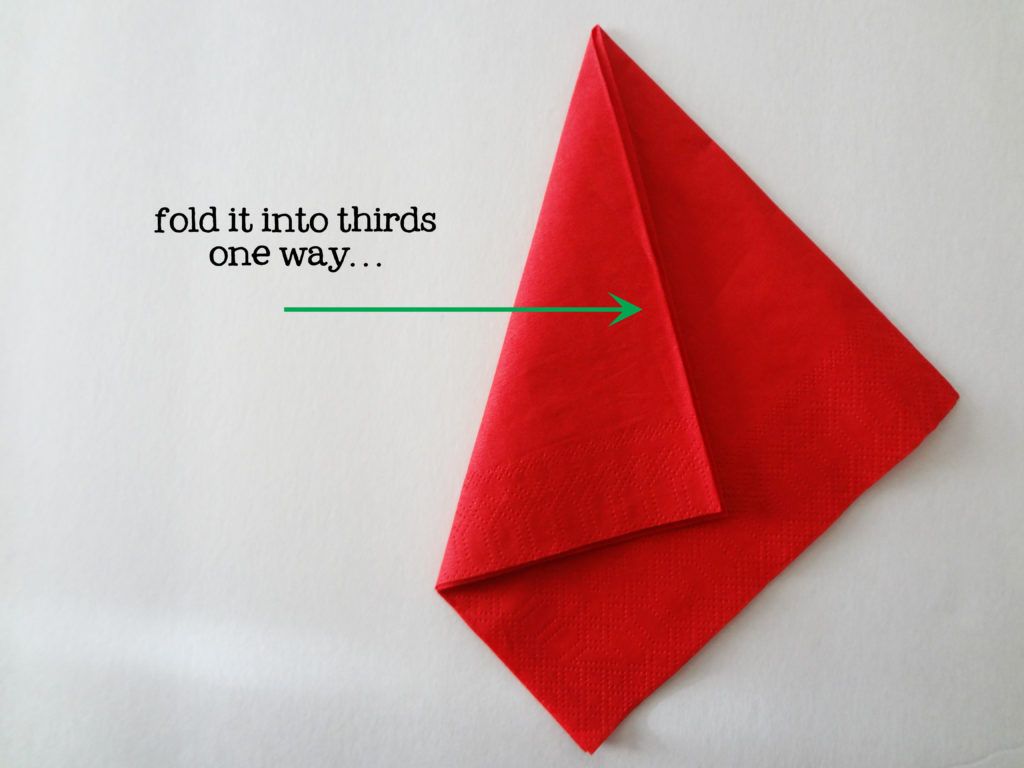 folding napkins for napkin rings