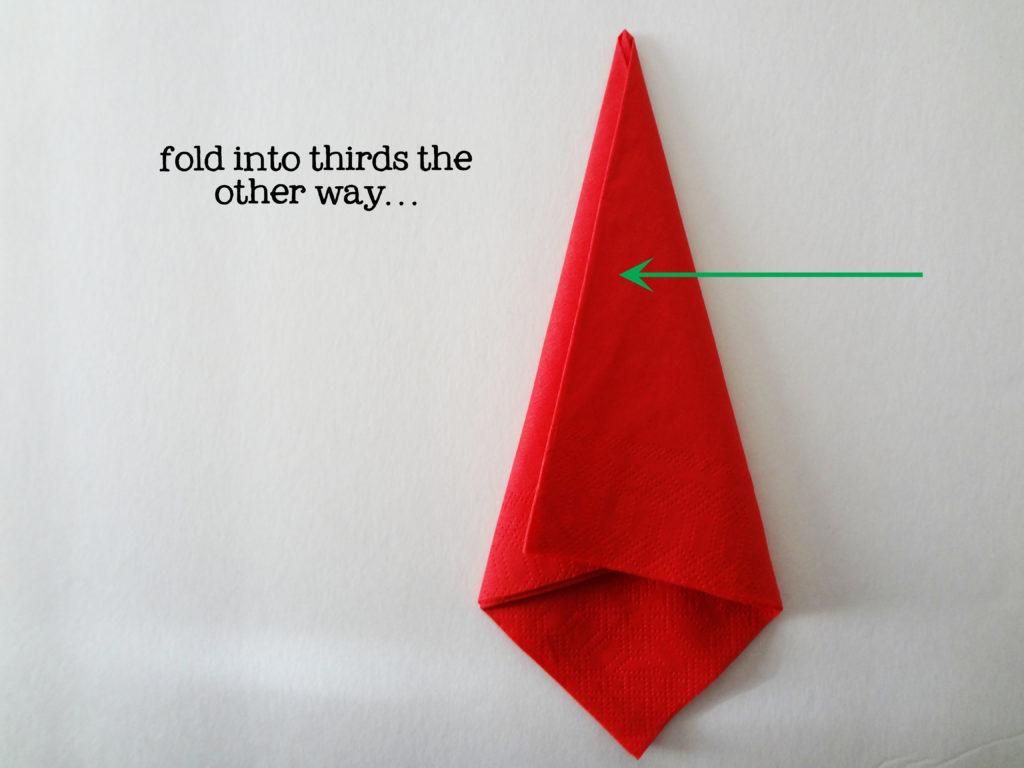 red napkin folding