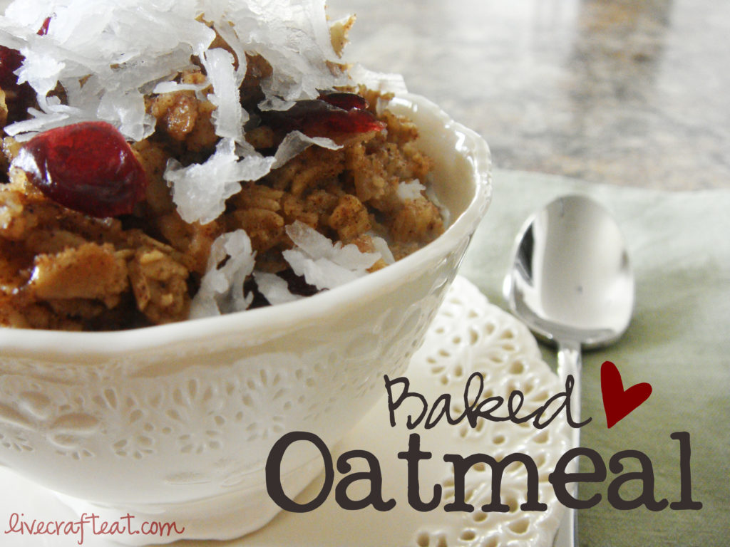 baked oatmeal recipe - our best bites cookbook, oatmeal, craisins, cinnamon