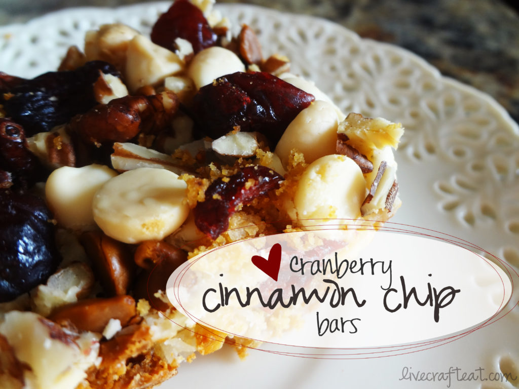 savoring the seasons with our best bites - cinnamon chip bars recipe