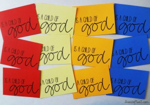 i am a child of god activity cards