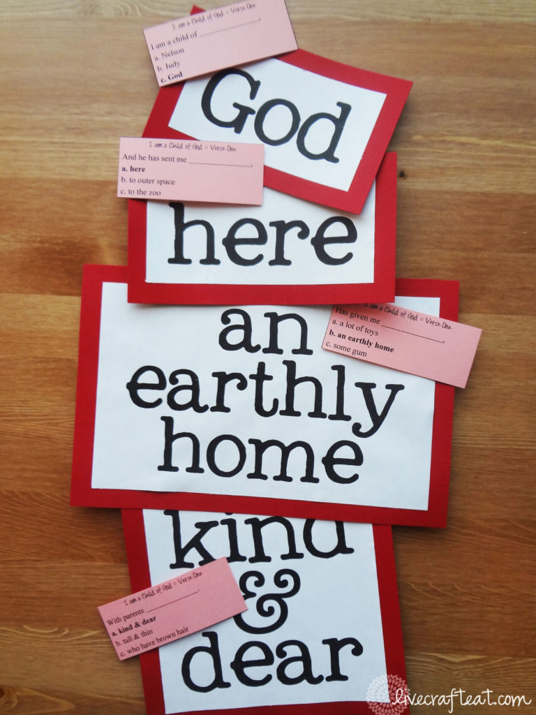 i am a child of god lds music time activity live craft eat
