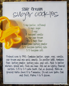 sour cream sugar cookies recipe with boy/girl cookie cutters