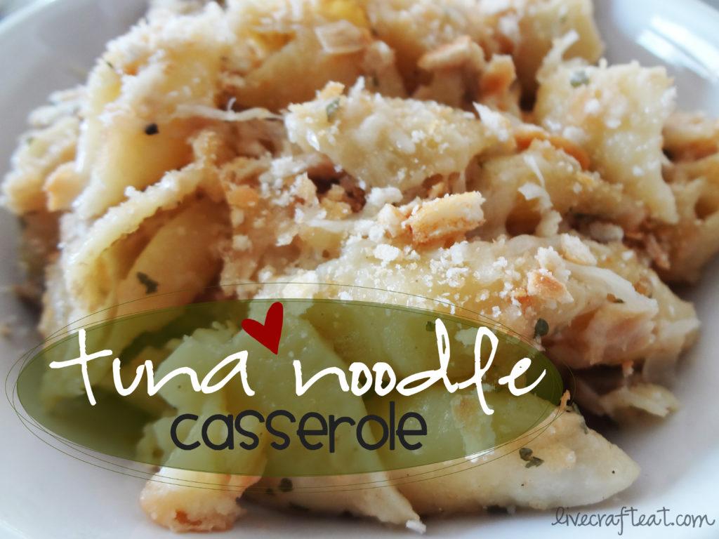 tuna casserole with dill, lemon juice, parmesan, mushrooms....