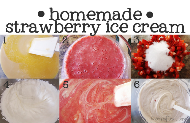easy homemade strawberry ice cream recipe steps