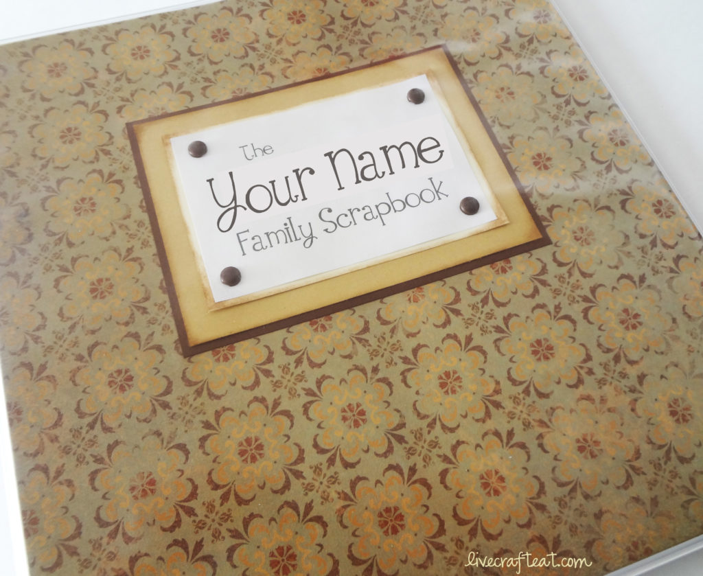 family scrapbook binder cover