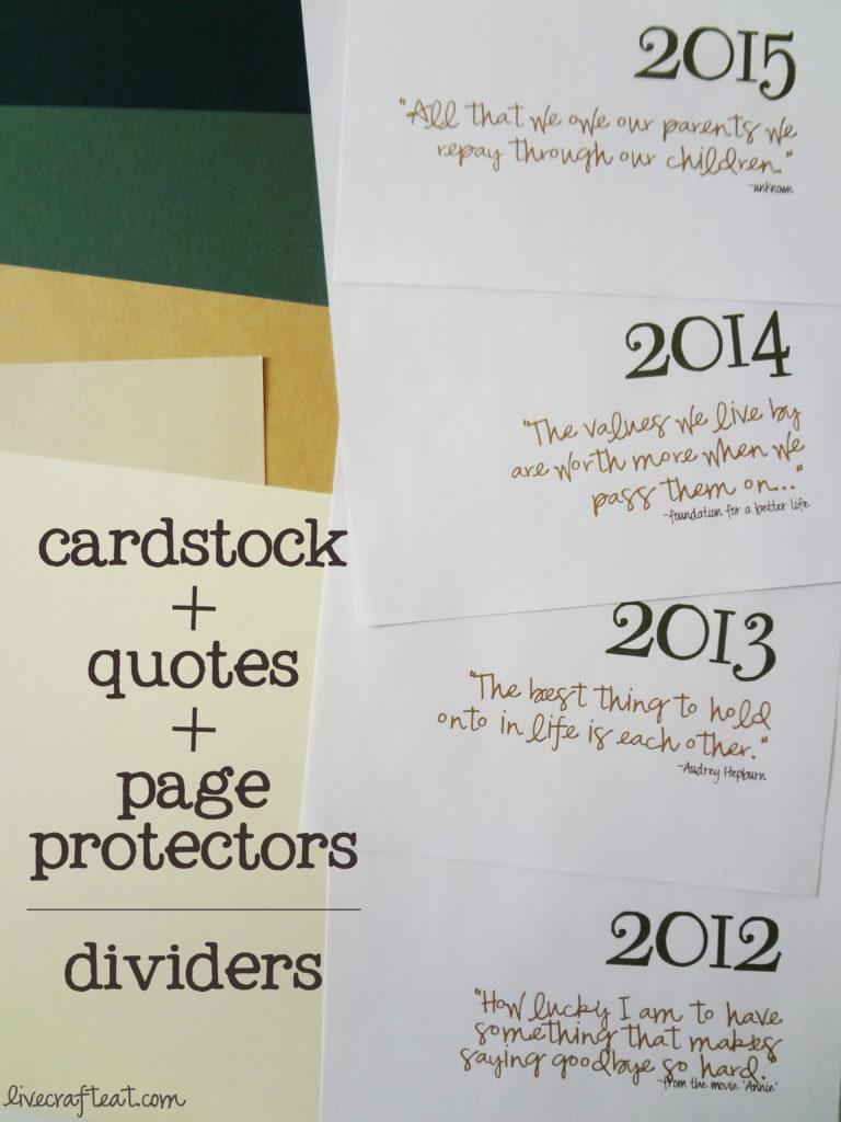 scrapbooking in binders
