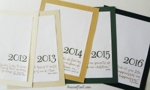 easy dividers for a DIY family scrapbook
