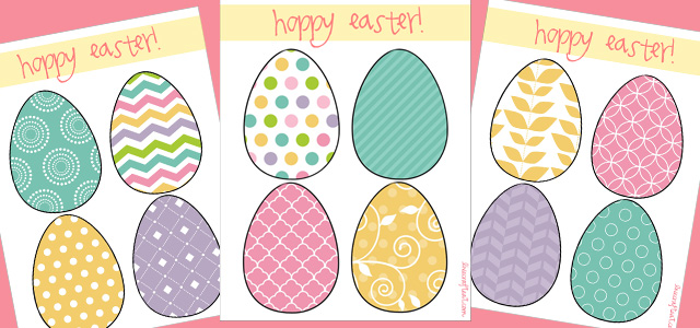free easter egg printable