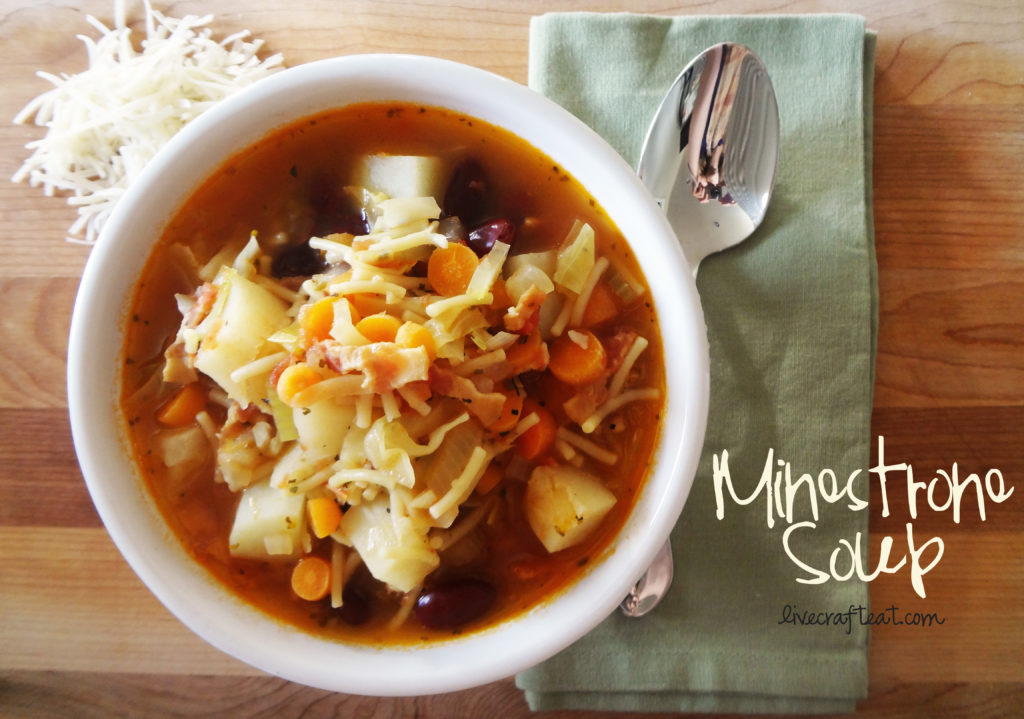 homemade minestrone soup recipe