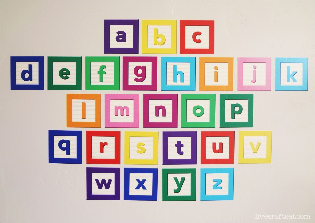 Alphabet wall decal set giveaway live craft eat for Alphabet wall mural