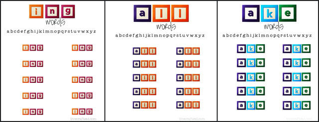 printable word-ending worksheets