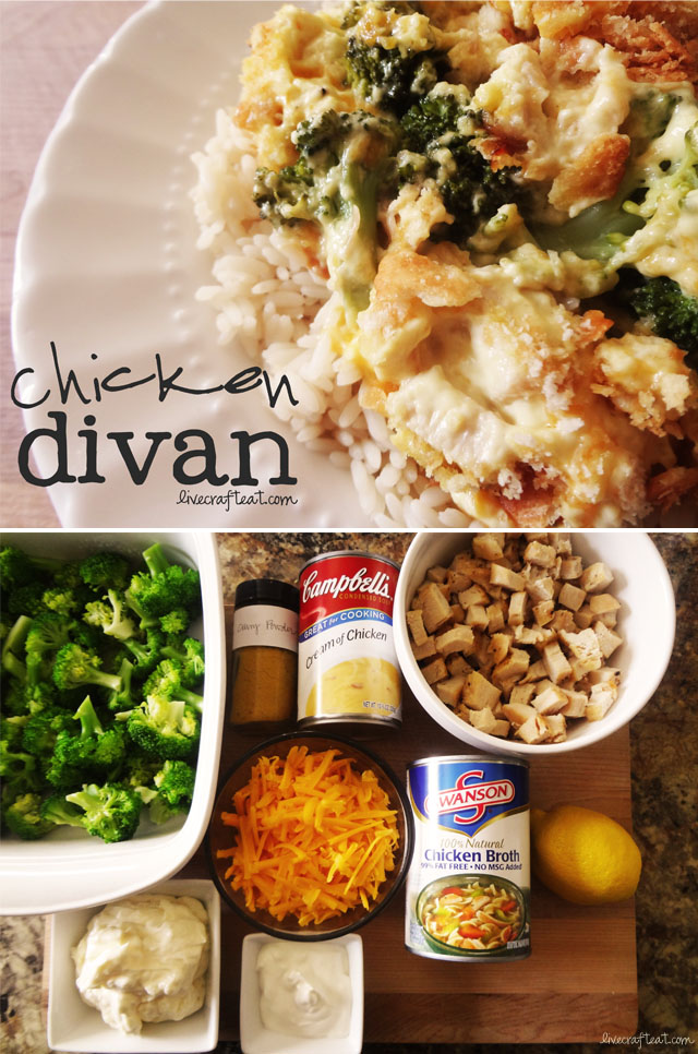 Chicken Divan Recipe Easy Casserole With Rice Live Craft Eat