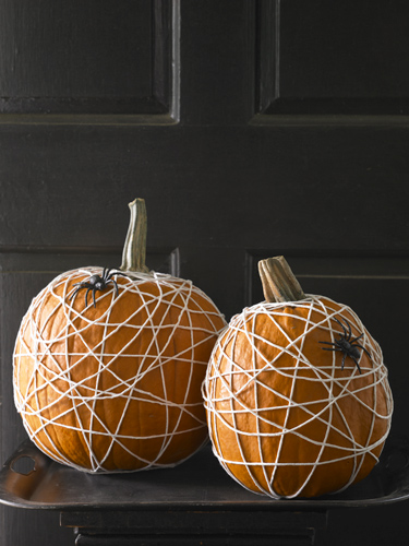 womansday - tangled web on pumpkin