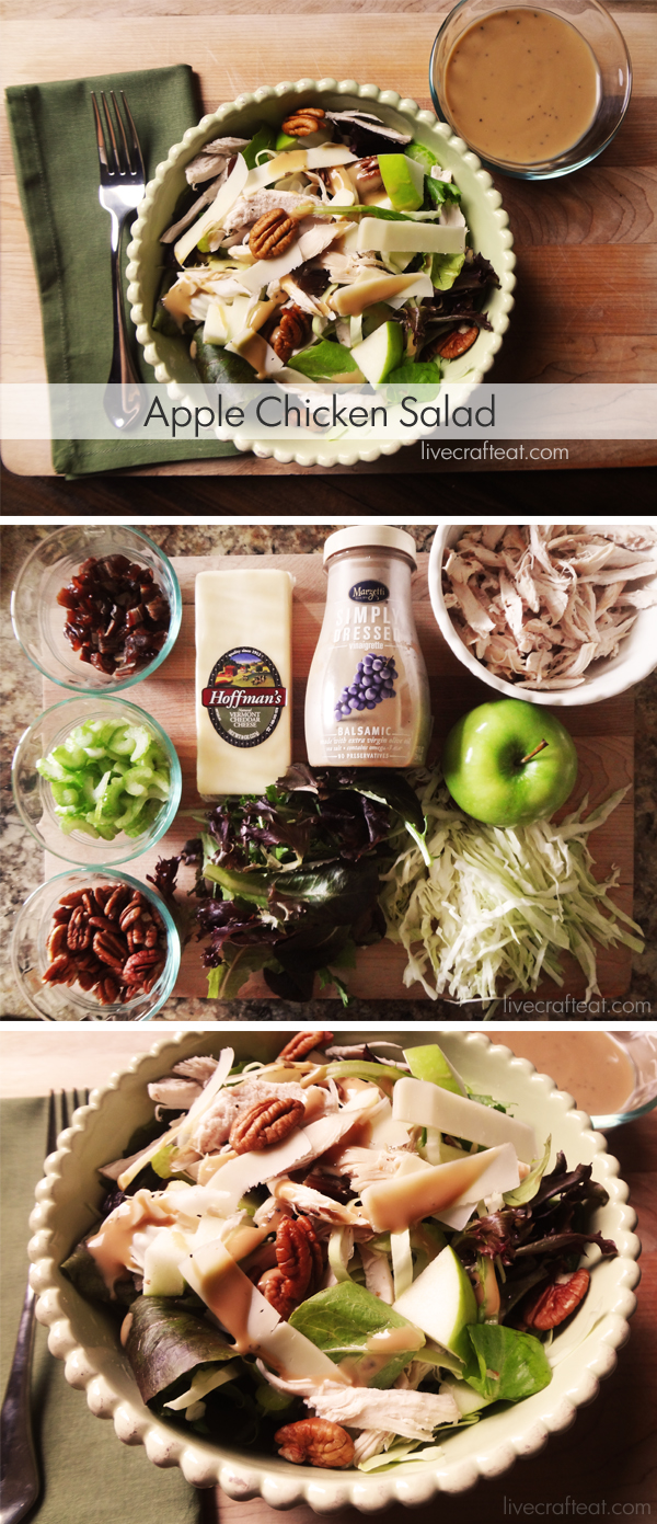 Apple Chicken Salad - a perfectly delicious way to eat up those granny smith apples and leftover chicken. I love this recipe!