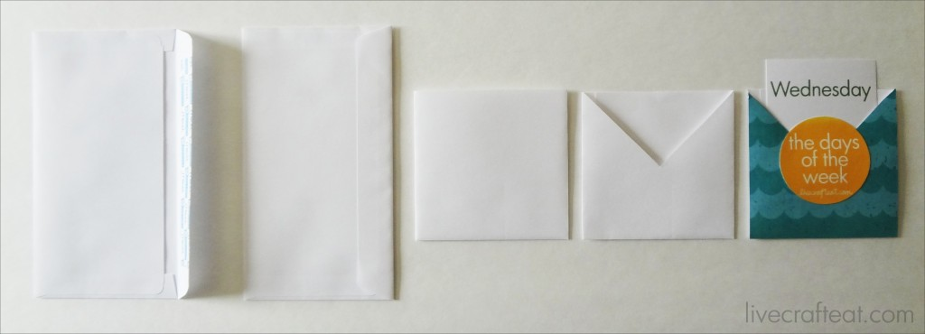easy library card envelopes