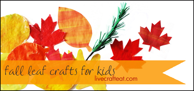 fall leaf crafts activities for kids live craft eat