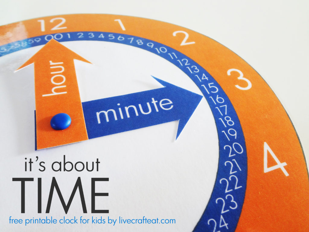 how to teach your child to tell time.