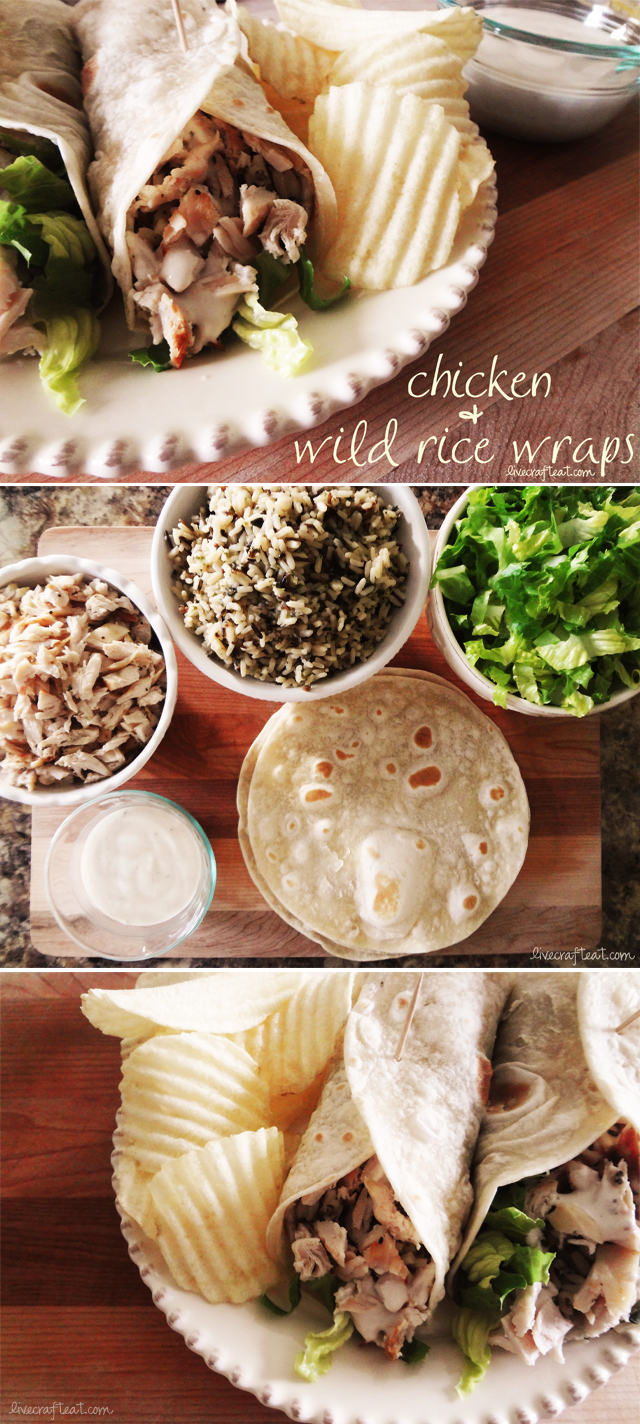 chicken & wild rice wraps recipe