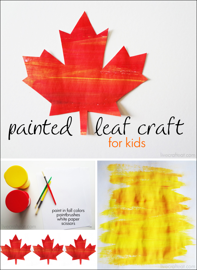 painted leaf craft for kids