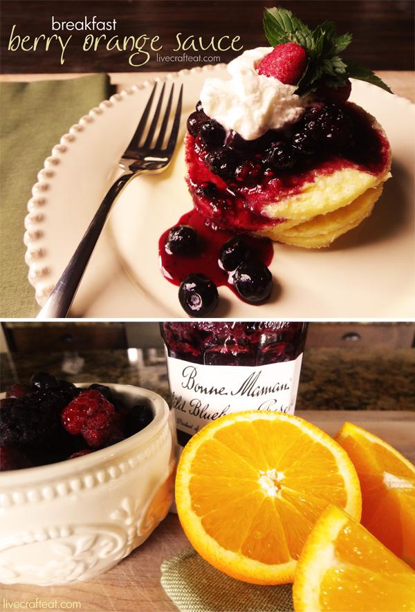 Berry Orange Sauce - a fabulous breakfast sauce for pancakes or waffles, using Bonne Maman preserves.